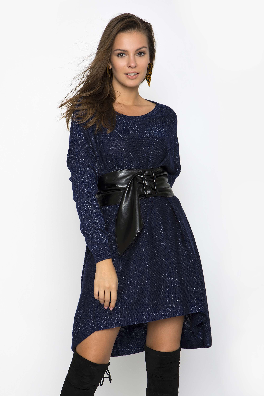 d0374b6b3b77 OVERSIZED TUNIC ΜΕ GLITTER - CLOTHES -  Φορέματα   Φόρμες -  Mini φορέματα