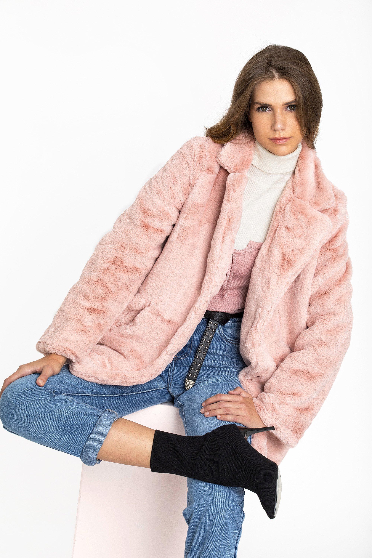ΓΟΥΝΙΝΟ ΠΑΛΤΟ - Ροζ clothes   jackets   παλτό   μπουφάν