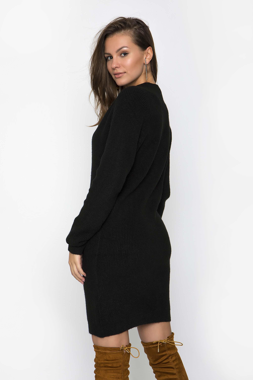 77a1239f65a8 ΠΛΕΚΤΟ ΦΟΡΕΜΑ V ΛΑΙΜΟΚΟΨΗ - CLOTHES -  Φορέματα   Φόρμες -  Mini ...