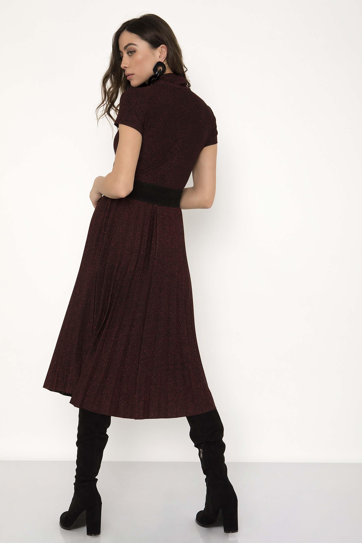 0499d355d85a ΜΕΤΑΛΙΖΕ MIDI ΠΛΙΣΕ ΦΟΡΕΜΑ - CLOTHES -  Φορέματα   Φόρμες -  Midi ...