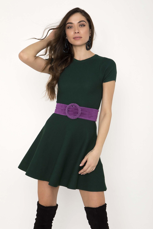 3b55e1b775ff ΜΙΝΙ ΠΛΕΚΤΟ ΦΟΡΕΜΑ ΜΕ ΛΟΥΚΙΑ - CLOTHES -  Φορέματα   Φόρμες -  Mini φορέματα