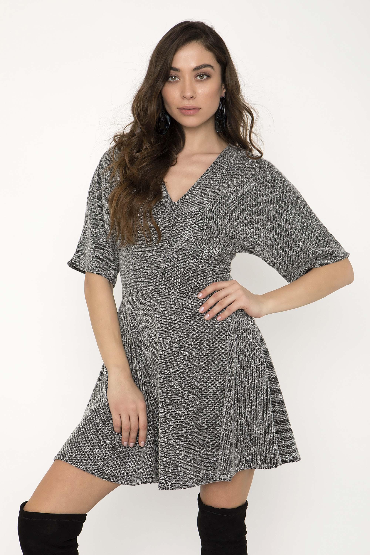fae2c32ea919 MINI ΠΛΕΚΤΟ ΦΟΡΕΜΑ ΜΕ ΛΟΥΚΙΑ - CLOTHES -  Φορέματα   Φόρμες -  Mini φορέματα