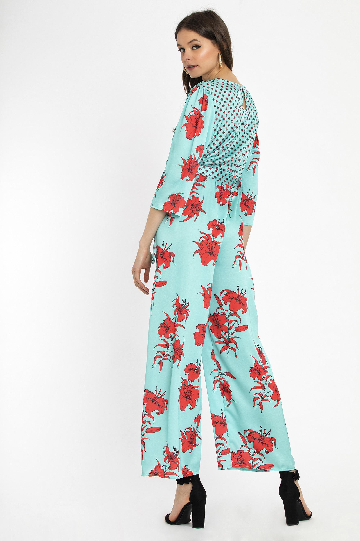 8aa50ab61a74 FLORAL WRAP JUMPSUIT - CLOTHES -  Φορέματα   Φόρμες -  Ολόσωμες ...