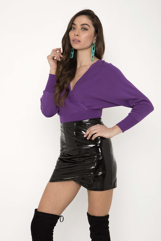VINYL MINI ΦΟΥΣΤΑ - CLOTHES -  Φούστες  b4226232db1