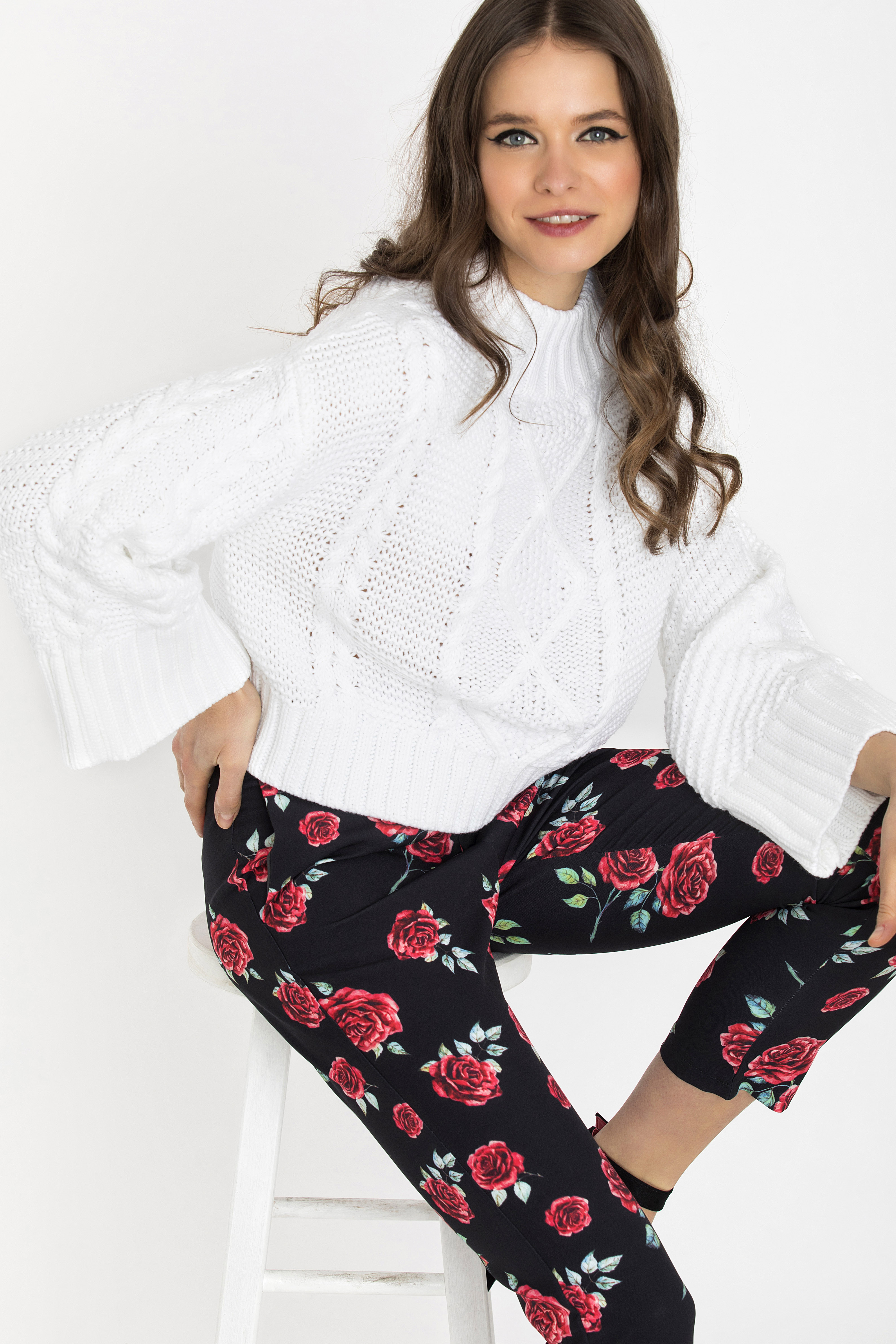 CHUNKY CROPPED ΠΟΥΛΟΒΕΡ - Άσπρο clothes   tops   πουλόβερ