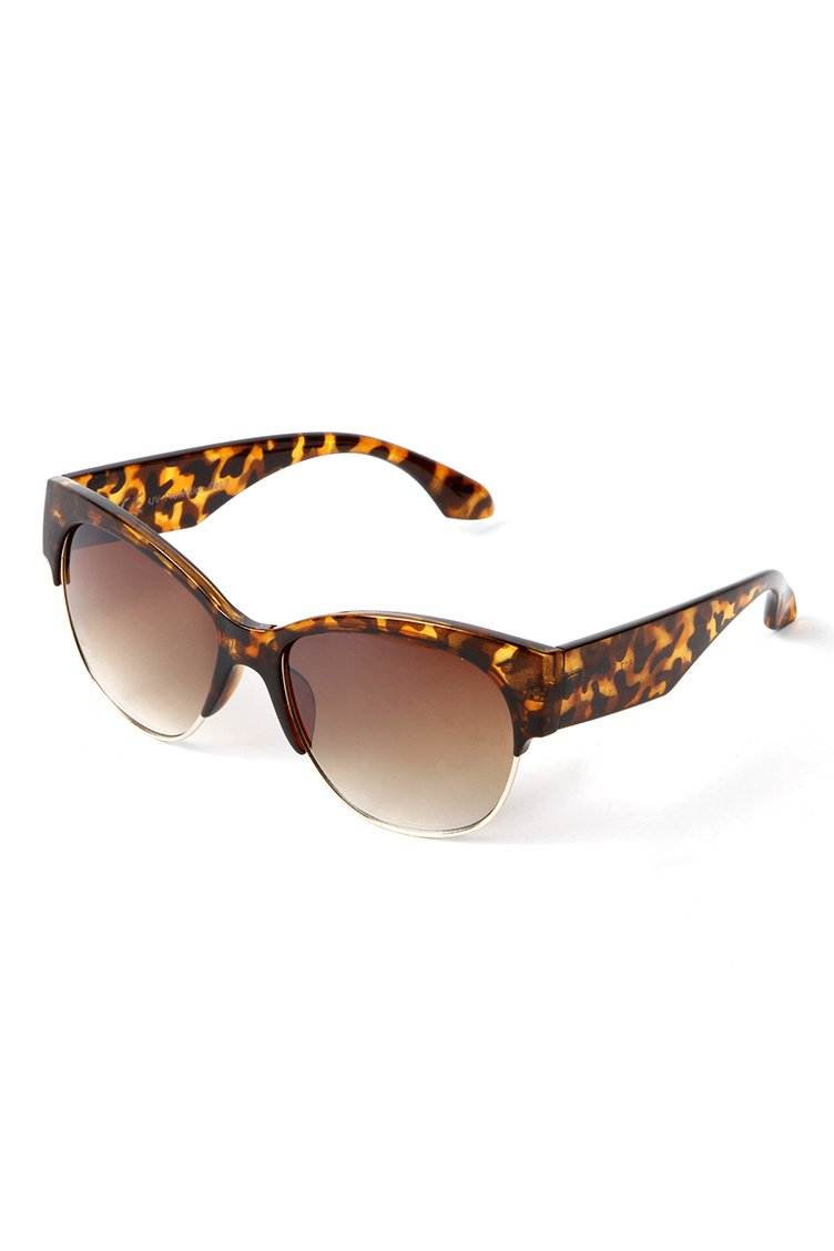 Cat Eye Tortoiseshell Shades - Καφέ