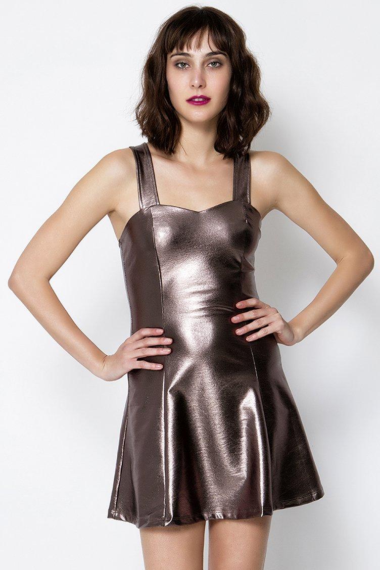 Metallic Skater Φόρεμα - Metallic