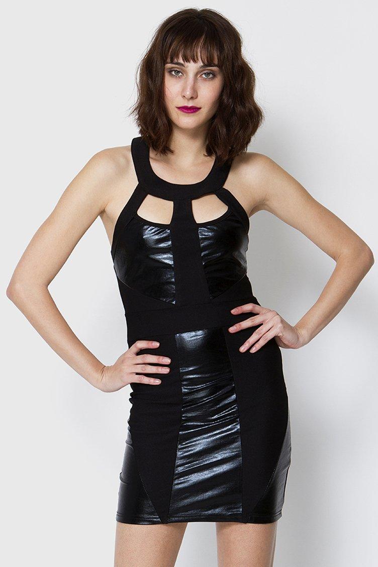 Cut Out Backless Φόρεμα - Μαύρο clothes   φορέματα   φόρμες   mini φορέματα