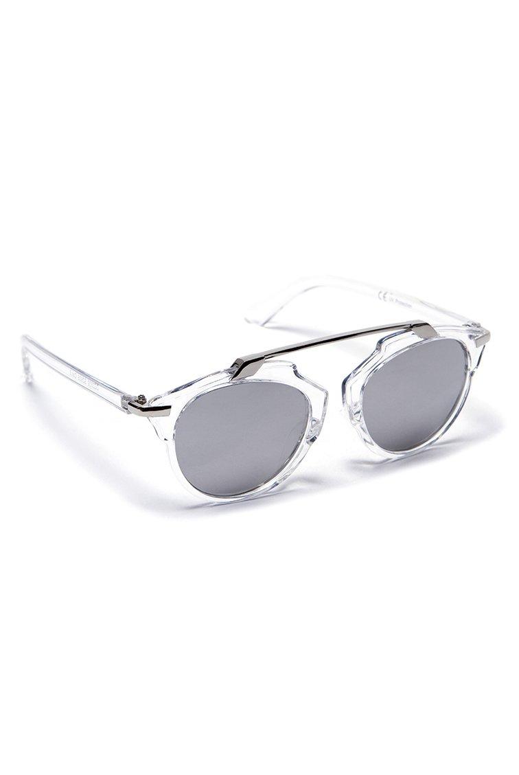 Metal Bridge Mirrored Shades - Ασημί accessories   γυαλιά ηλίου