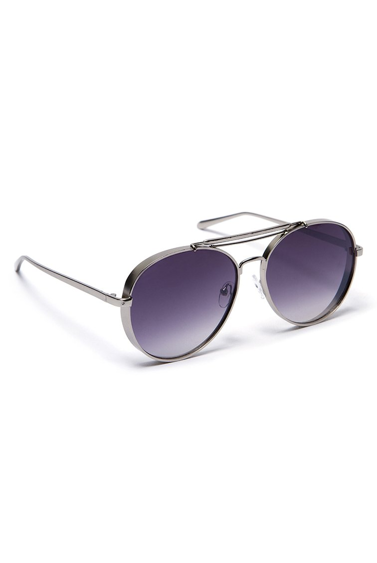 Aviator Shades - Ασημί