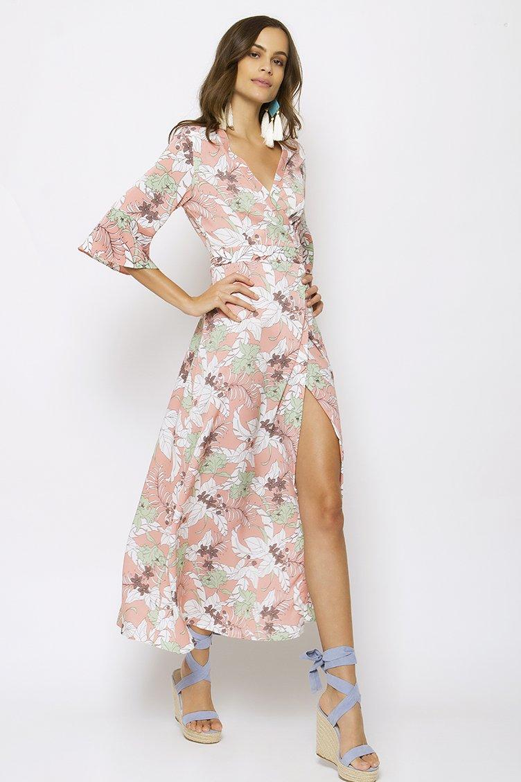 Midi Wrap Floral Φόρεμα - CLOTHES -  Φορέματα   Φόρμες  44060f495de